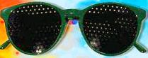 Kids Natural Eyes Pinhole Glasses And Book (Green)