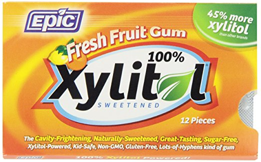 Epic Dental Xylitol Gum (Fresh Fruit)