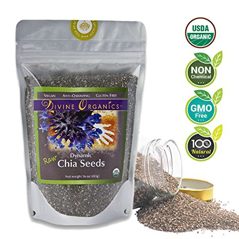 Chia Seeds Organic 8 Oz (Transition Nutrition)