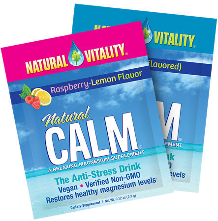 Natural Calm Raspberry-Lemon (Natural Vitality) 30 ct