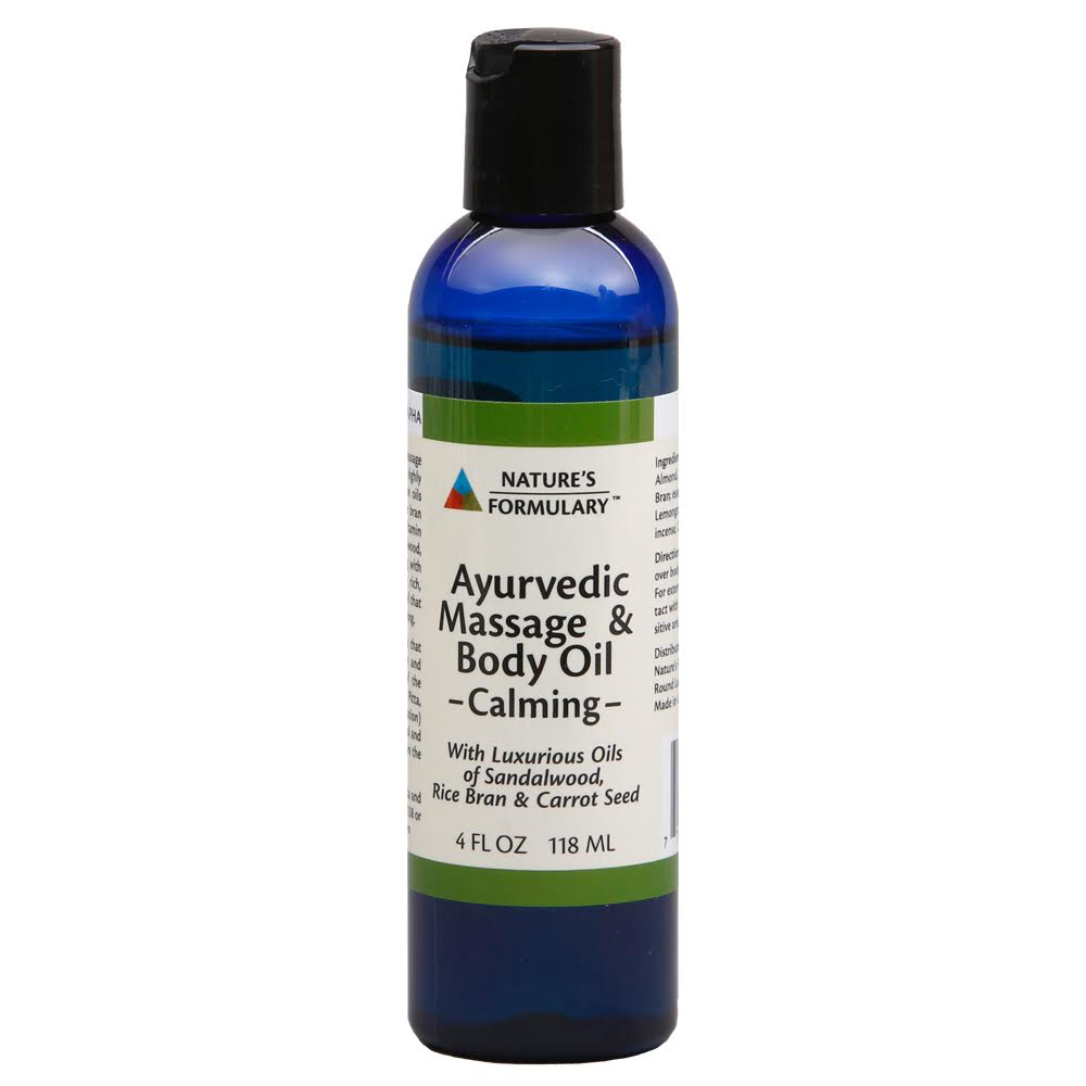 AYURVEDIC MASSAGE & BODY OIL - CALMING (NATURE'S FORMULARY)
