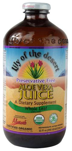Aloe Vera Juice - Whole Leaf - Preservative Free 32 oz