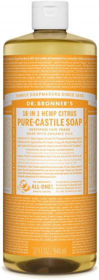 18-In-1 Hemp Citrus Liquid Soap (Dr. Bronners)