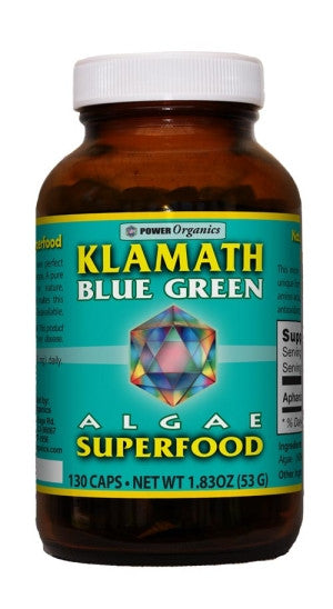 Blue Green Algae Capsules 400mg (Klamath) 130 vCaps