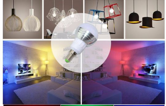 LED Color Therapy Bulb with Remote Control