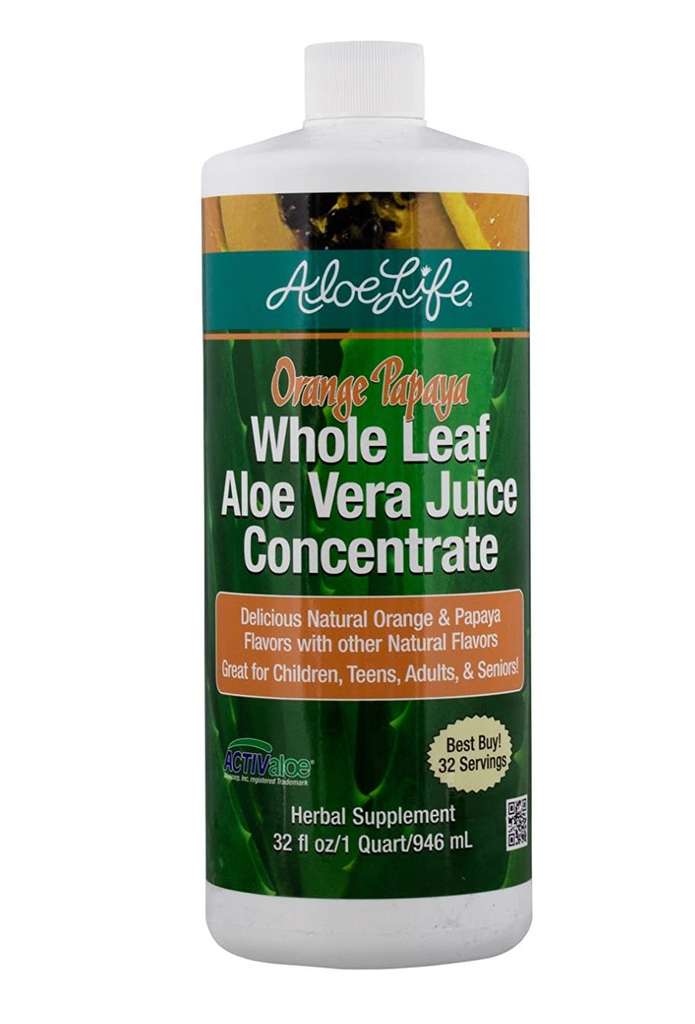 Orange Papaya Whole Leaf Aloe Vera Juice (Aloe Life) 32 fl oz