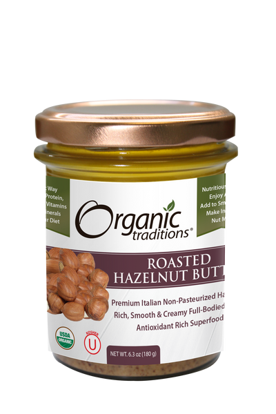 ROASTED HAZELNUT BUTTER 6.3 OZ (ORGANIC TRADITIONS)