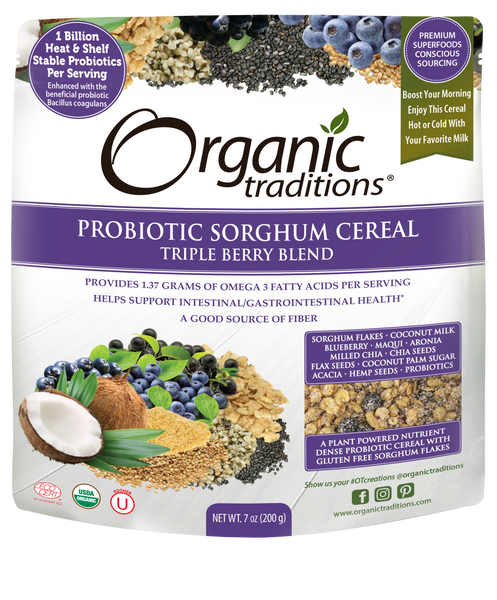 PROBIOTIC SORGHUM CEREAL TRIPLE BERRY BLEND 7 OZ (ORGANIC TRADITIONS)