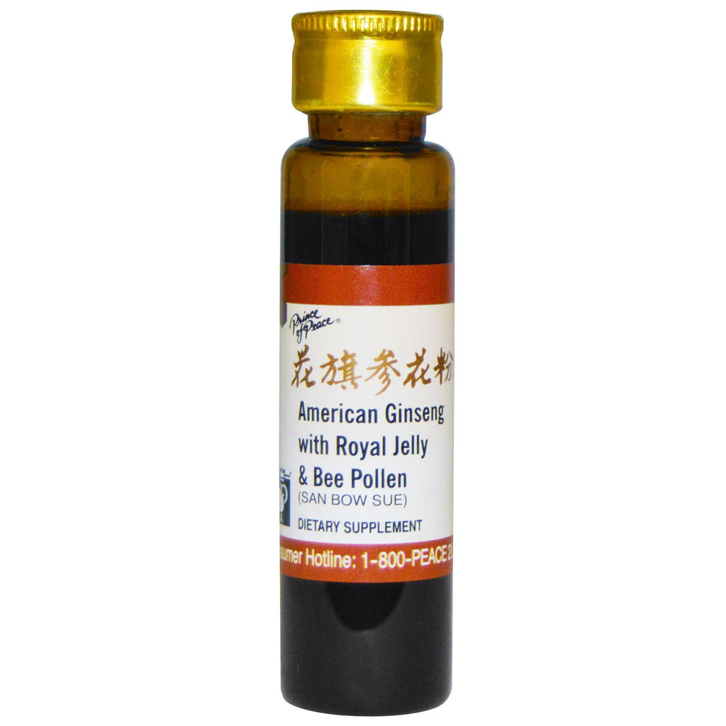 GINSENG (AMERICAN) ROYAL JELLLY / BEE POLLEN SINGLE 10CC VIAL