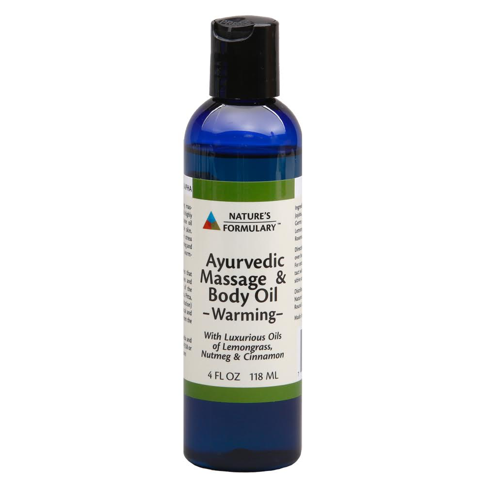 AYURVEDIC MASSAGE & BODY OIL - WARMING (NATURE'S FORMULARY)