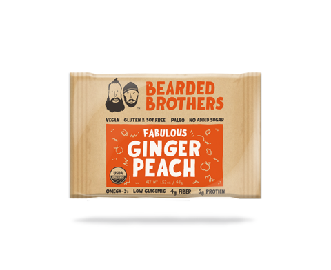 Fabulous Ginger Peach Energy Bar (Bearded Brothers) 2oz