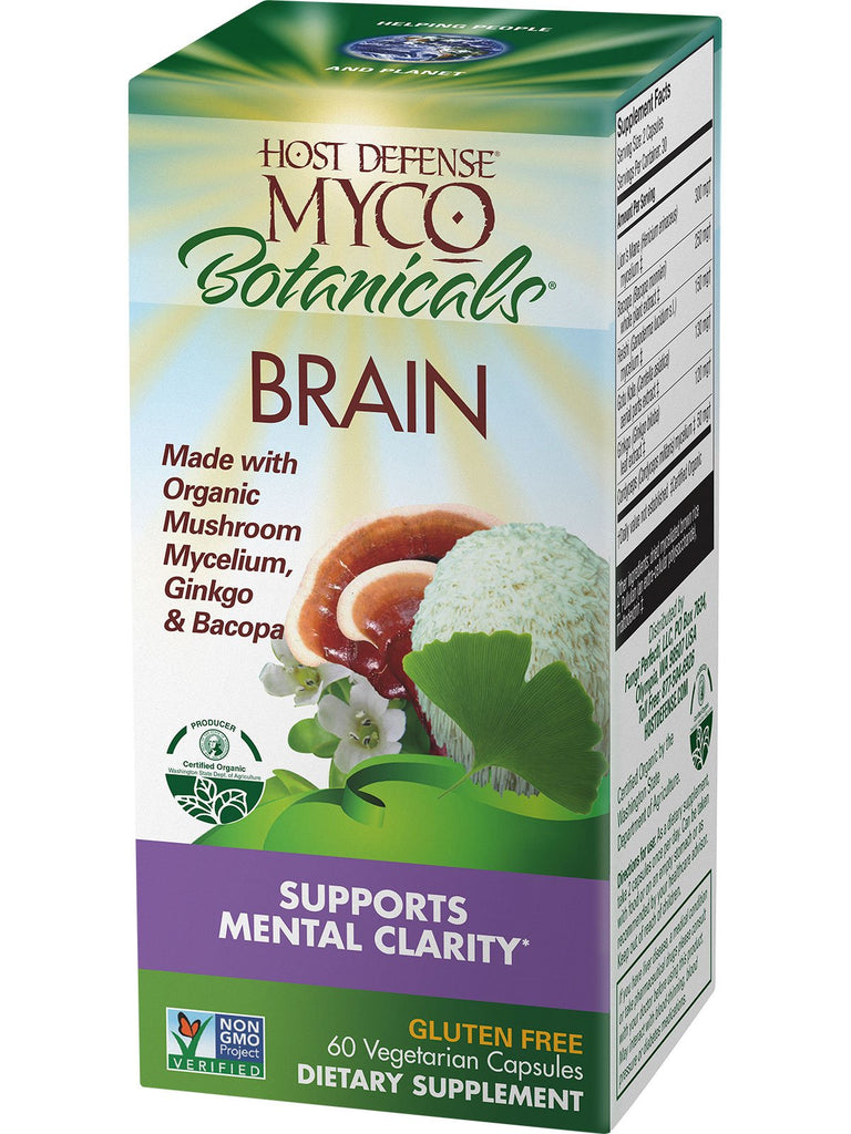 Brain - Supports Mental Clarity - 60 Vegetarian Capsules - Host Defense Myco Botanicals