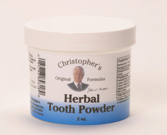 Herbal Tooth Powder (Dr. Christopher) 2oz.