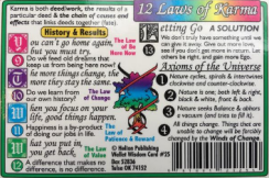 12 LAWS OF KARMA WALLET CARD