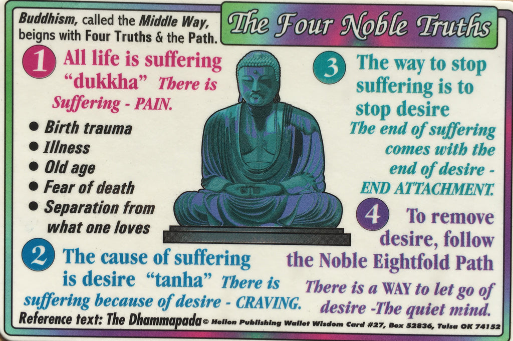 The Four Noble Truths Wallet Chart