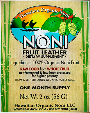 Noni Fruit Leather - On sale!