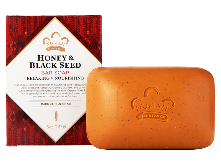 Honey And Black Seed Soap With Apricot (Nubian Heritage)
