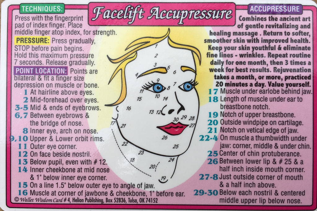 Facelift Accupressure Wallet Chart