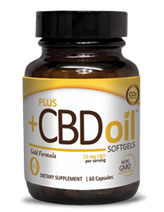 Plus CBD Oil Gold15MG SOFT GELS (CANNA VEST)