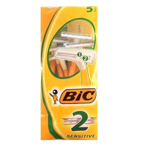 Bic 2  Sensitive Disposable Razor (5 Razors)