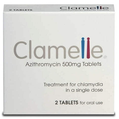 Clamelle Azithromycin 500mg Tablets (2 Tablets)