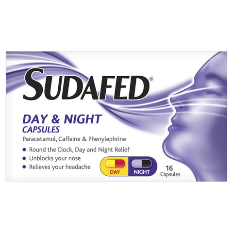Sudafed Day & Night Capsules (16 Capsules)