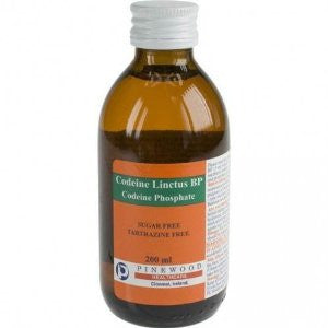 Codeine Linctus 15mg/5ml Sugar Free (200ml Bottle)