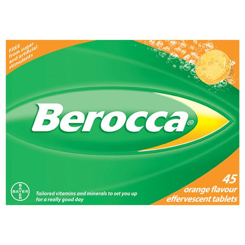 Berocca Orange Flavour Effervescent Tablets (45 Tablets)
