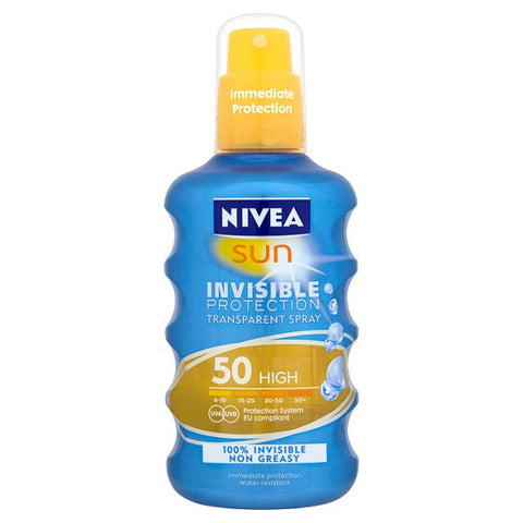 Nivea Sun Spray Invisible Protect Sun Spray SPF50 (200ml)