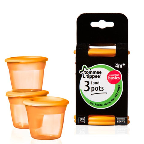 Tommee Tippee Essential Food Pots (3 Pots)