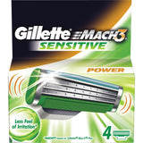 Gillette M3 Power Blades (4 Blades)