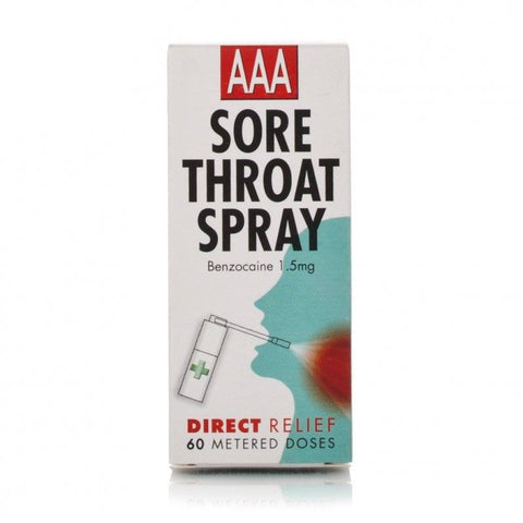 AAA Sore Throat Spray (60 Sprays)