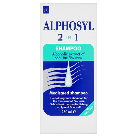 Alphosyl 2 in 1 Shampoo (250ml Bottle)