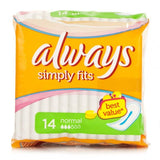 Always Ultra Simply Fits Normal (14 Towels)