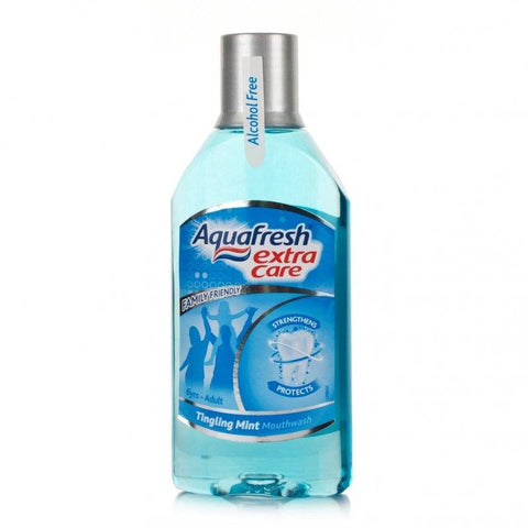 Aquafresh Extra Care Mouthwash Tingling Mint (250ml)