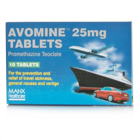 Avomine Tablets 25mg (10 Tablets)