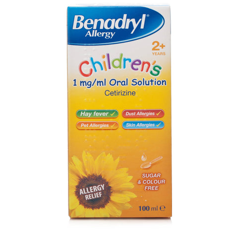 Benadryl Allergy Children's 1mg/ml Oral Solution (100ml Bottle)