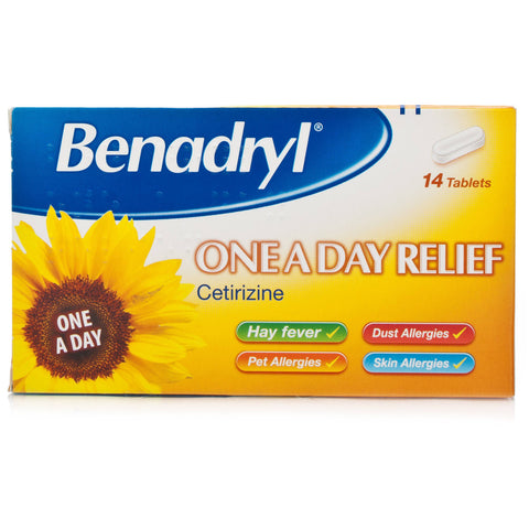 Benadryl One A Day Relief Tablets (14 Tablets)