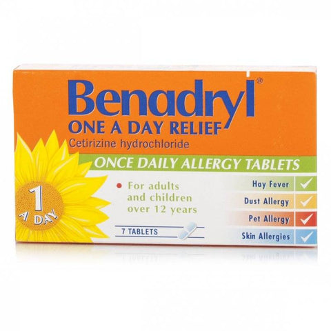 Benadryl One A Day Relief Tablets (7 Tablets)