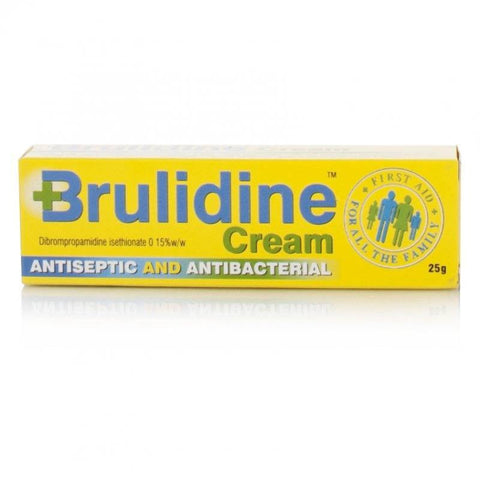 Brulidine Antiseptic and Antibacterial Cream FREE DELIVERY (25g Tube)