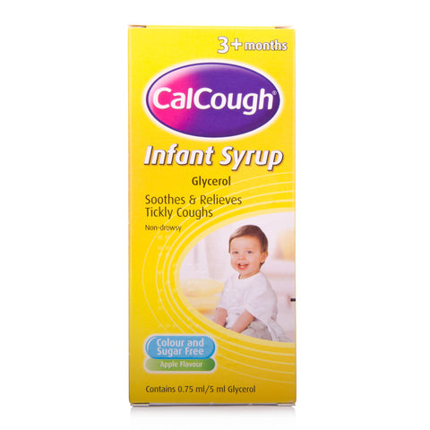 Calcough Infant Syrup Apple Flavour (125ml Bottle)