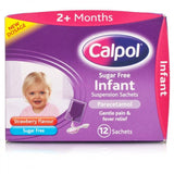 Calpol Sugar Free Infant Suspension Sachets (12 Sachets)