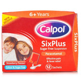 Calpol Six Plus Sugar Free Suspension Sachets (12 Sachets)