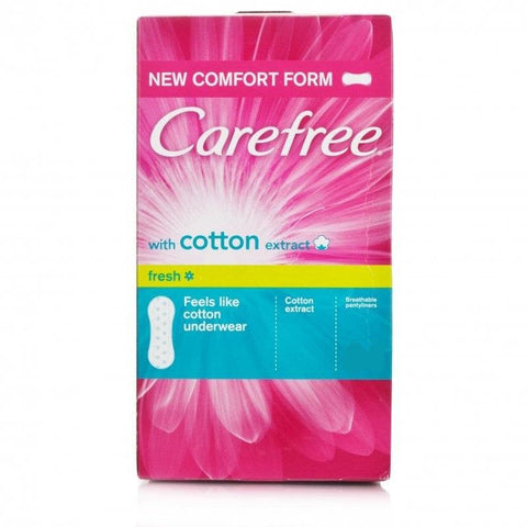 Carefree Cotton Extract Breathable Pantiliners (20 Pantiliners)