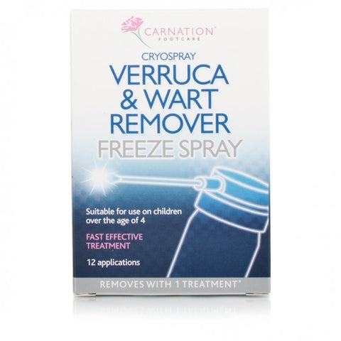 Carnation Verruca & Wart Remover Freeze Spray (12 Applications)