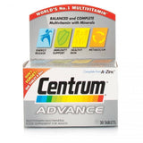 Centrum Advance A To Zinc (180 Tablets)