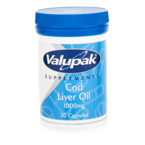 Valupak Cod Liver Oil 1000mg (30 Capsules)