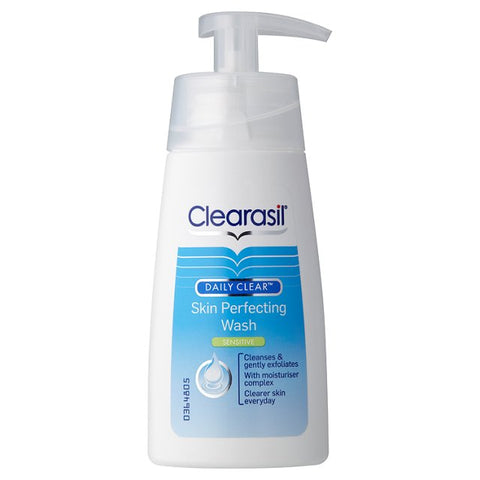 Clearasil Daily Clear Skin Perfecting Wash Sensitive (150ml Pump Dispenser)