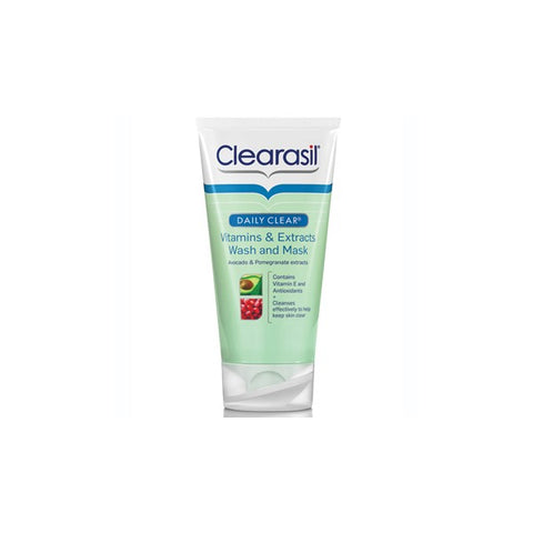 Clearasil Vitamins & Extracts Wash Mask (150ml Tube)