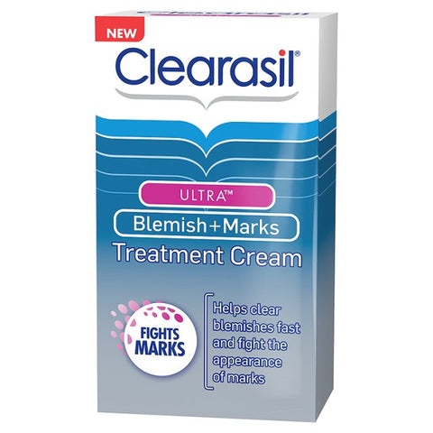 Clearasil Ultra Blemish + Marks Treatment Cream (30ml Tube)